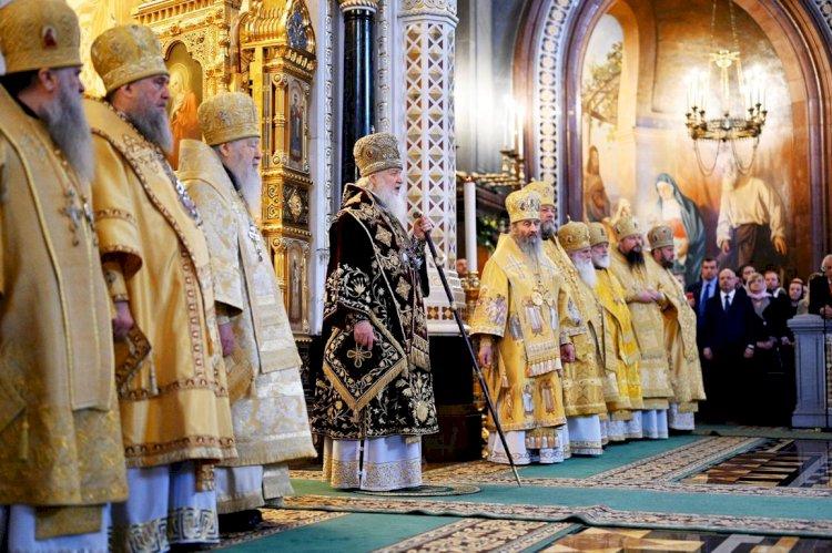 Патријарх Кирил одликовао старешину Српског подворја у Москви